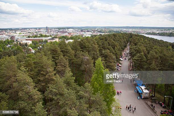 view of tampere city - forens stock pictures, royalty-free photos & images