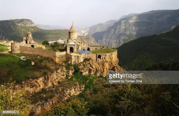 view of tatev monastery - アルメニア共和国 ストックフォトと画像