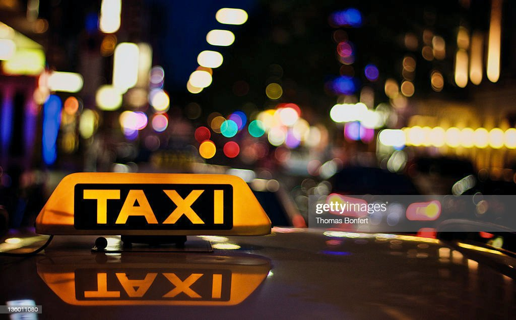View of taxi board : Stock Photo