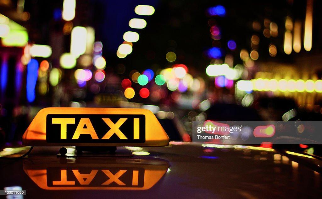 View of taxi board : Foto de stock