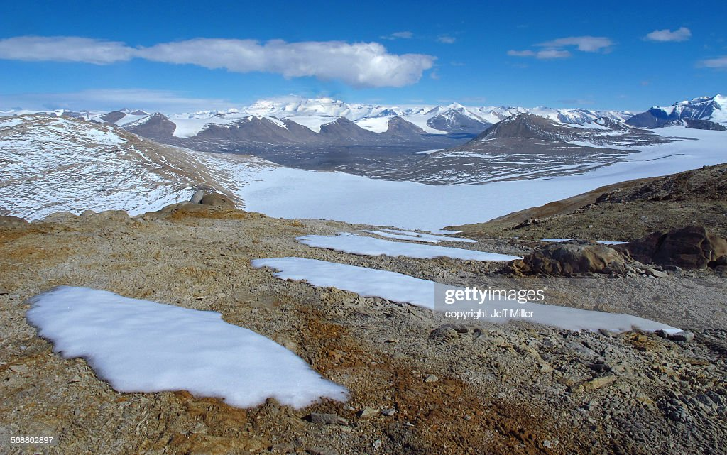View of Taylor valley, Dry Valleys, Antarctica : Stock Photo