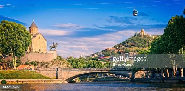 View of Tbilisi down town from the Kura River