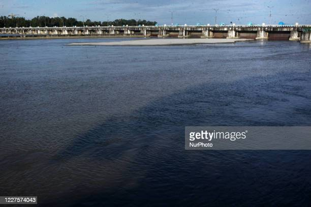 View of teesta barrage after flood water decreased in Daliya, Nilphamari, Rangpur on Wednesday, July 15,2020.