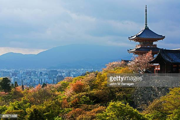 view of temple - kyoto prefecture stock pictures, royalty-free photos & images
