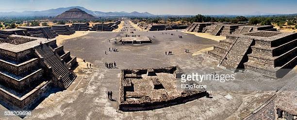 View of Teotihuacan archaeological site, Mexico