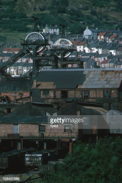 View of terraced housing and the Six Bells Colliery, Gwent, September 1969. In June 1960 45 men lost their lives when a gas and coal dust explosion...
