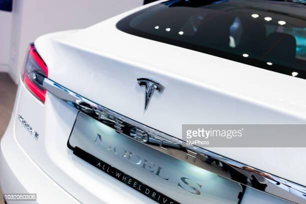 A view of Tesla Model S in Barcelona Spain on September 10 2018