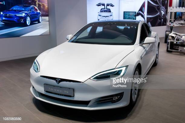 A view of Tesla Model S in Barcelona Spain on September 10 2018