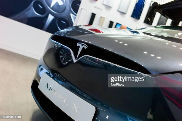 A view of Tesla Model X in Barcelona Spain on September 10 2018