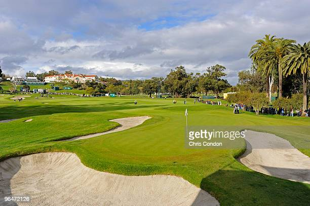 View of the 10th green during the third round of the Northern Trust Open at Riviera Country Club on February 6, 2010 in Pacific Palisades, California.