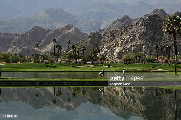 A view of the 10th hole on the Palmer Private Course at PGA West duing the second round of the Bob Hope Chrysler Classic on January 22 2009 in La...