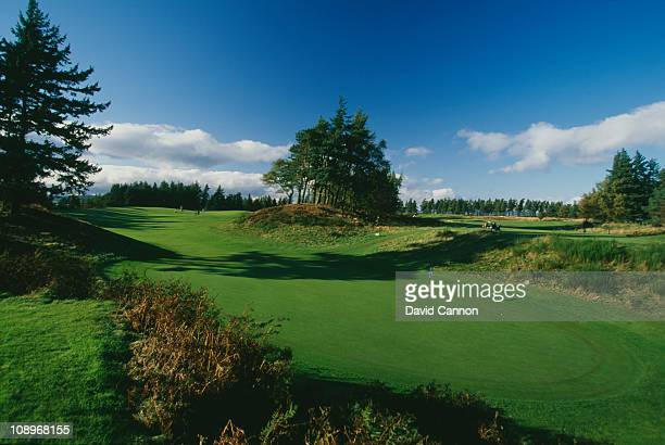 View of the 10th hole on the Queen's Course at the Gleneagles Hotel, near Auchterarder, Scotland, circa 1990.