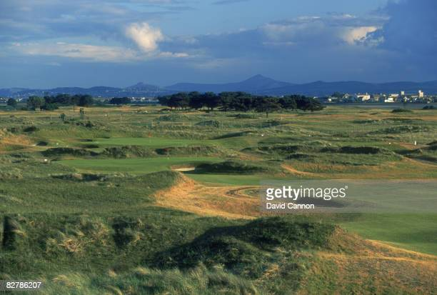 A view of the 11th and 12th holes at Portmarnock Golf Links County Dublin Ireland July 1995 The course was designed by German golfer Bernhard Langer