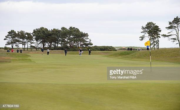 A view of the 11th green during The Amateur Championship 2015 Day Four at Carnoustie Golf Club on June 18 2015 in Carnoustie Scotland