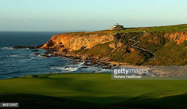 A view of the 12th green at the Pinnacle Point Golf Course at Pinnacle Point Beach and Golf Resort on January 13 2009 in Mossel Bay South Africa