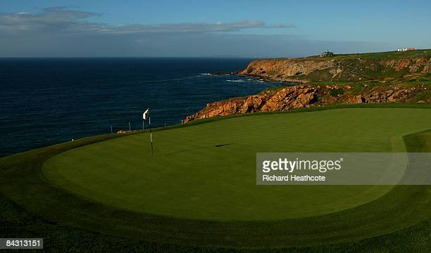 A view of the 13th green at the Pinnacle Point Golf Course at Pinnacle Point Beach and Golf Resort on January 14 2009 in Mossel Bay South Africa