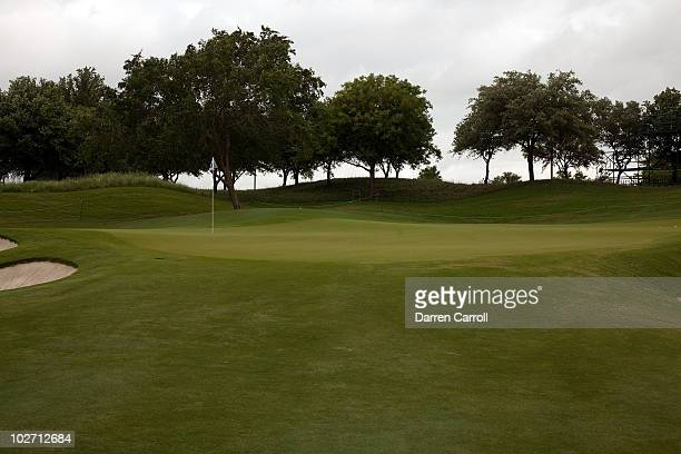 A view of the 13th hole during the HP Byron Nelson Championship at TPC Four Seasons Resort Las Colinas on May 21 2010 in Irving Texas