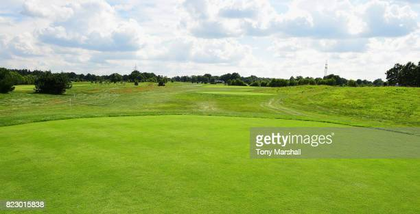 A view of the 16th fairway from the 16th tee during the Porsche European Open Previews at Green Eagle Golf Course on July 26 2017 in Hamburg Germany