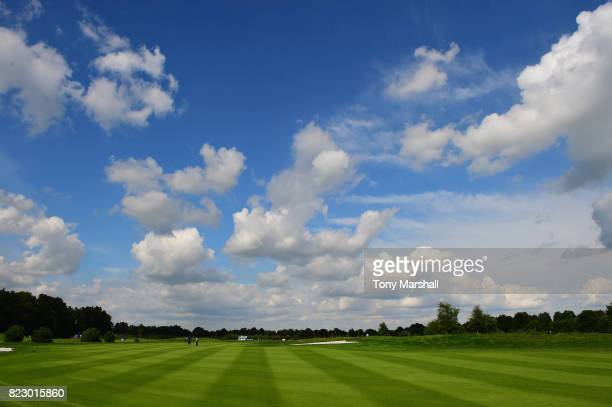 A view of the 16th fairway lokking towards the 16th tee during the Porsche European Open Previews at Green Eagle Golf Course on July 26 2017 in...