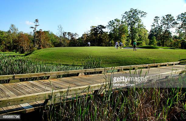 A view of the 16th green during the first round of the Sanderson Farms Championship at The Country Club of Jackson on November 5 2015 in Jackson...