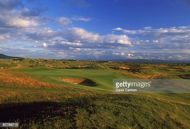 A view of the 17th green par 4 at Portmarnock Golf Links County Dublin Ireland July 1995 The course was designed by German golfer Bernhard Langer