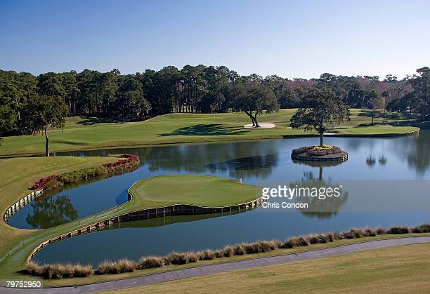 View of the 17th hole of THE PLAYERS Stadium Course at the TPC Sawgrass - Ponte Vedra Beach, Florida.