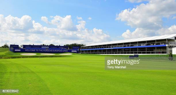 A view of the 18th green during the Porsche European Open Previews at Green Eagle Golf Course on July 26 2017 in Hamburg Germany