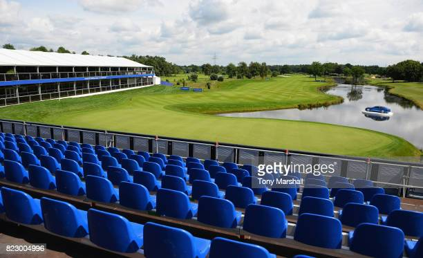 A view of the 18th green during the Porsche European Open Pro Am at Green Eagle Golf Course on July 26 2017 in Hamburg Germany