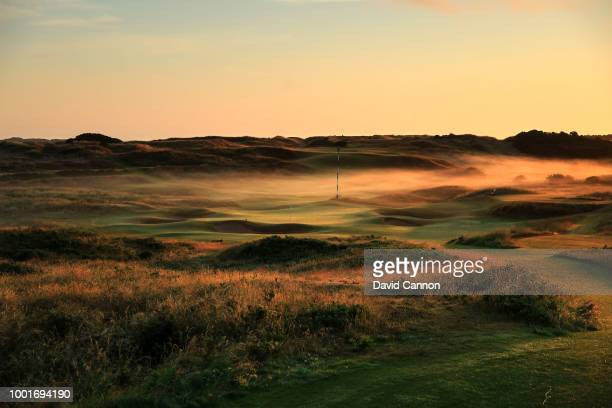 A view of the 191 yards par 3 13th hole 'Feather Bed' on the Dunluce Links at Royal Portrush Golf Club the venue for The Open Championship 2019 on...