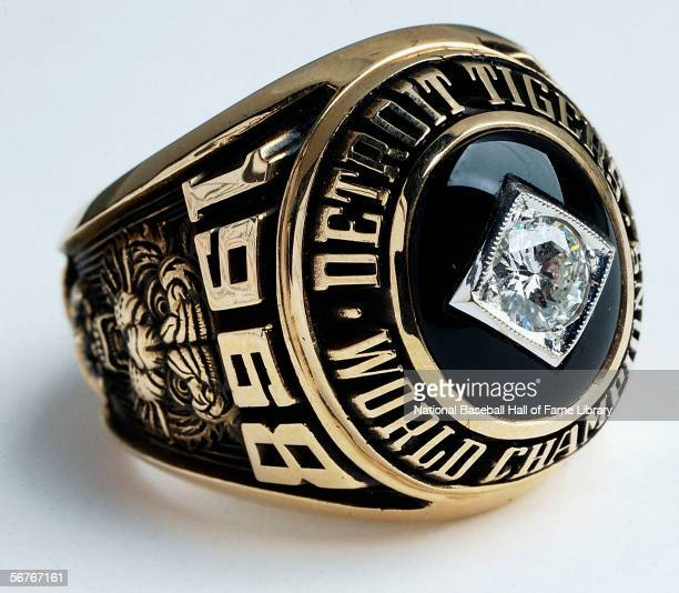 A view of the 1968 Detroit Tigers World Series Ring