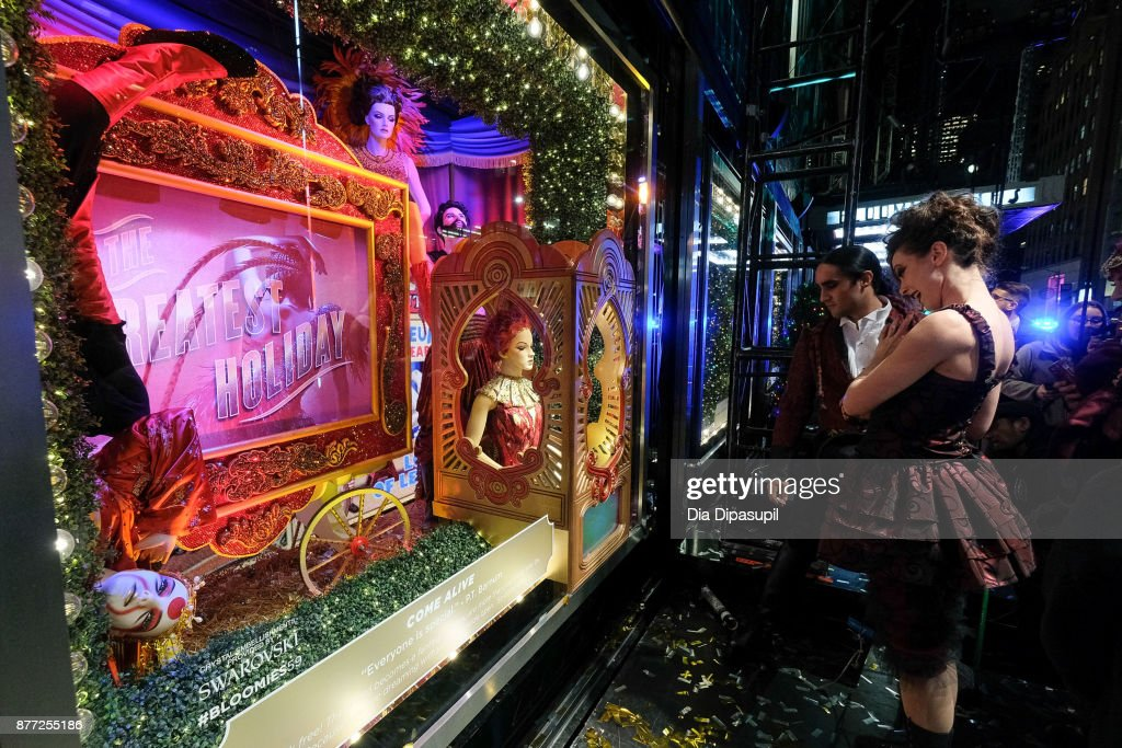 A view of the 2017 Bloomingdale's Holiday Windows Unveiling at Bloomingdale's on November 21, 2017 in New York City.