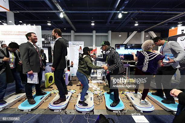 A view of the 2017 Consumer Electronics Show in Las Vegas Nevada USA on January 08 2017