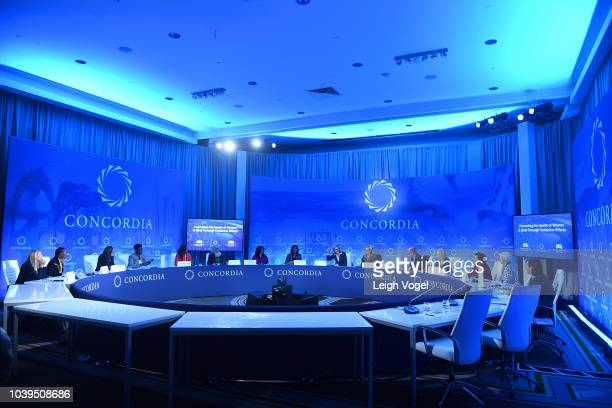View of the 2018 Concordia Annual Summit - Day 1 at Grand Hyatt New York on September 24, 2018 in New York City.