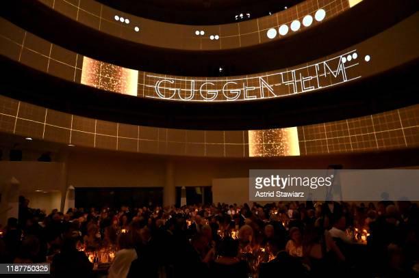 A view of the 2019 Guggenheim International Gala at Solomon R Guggenheim Museum on November 14 2019 in New York City
