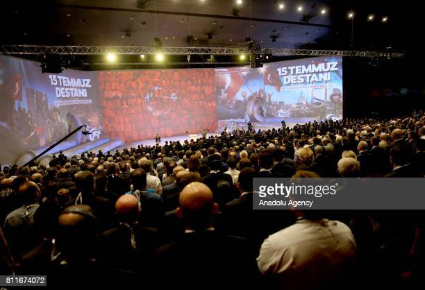A view of the 22nd World Petroleum Congress the largest meeting of oil and gas industry at Istanbul Convention Center in Istanbul Turkey on July 10...