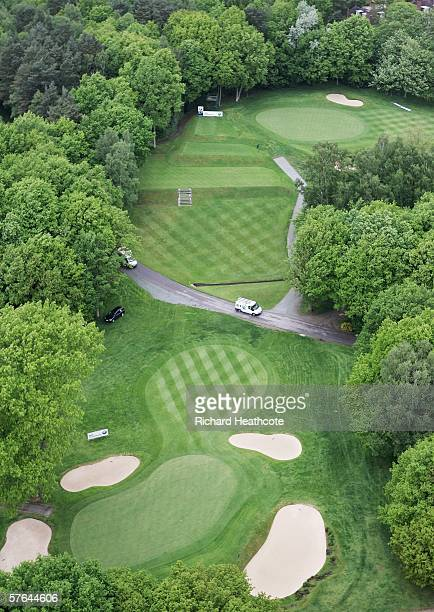 View of the 2nd hole on the West Course at the Wentworth Club home of the European Tours BMW Championship on May 18 2006 in Virginia Water England