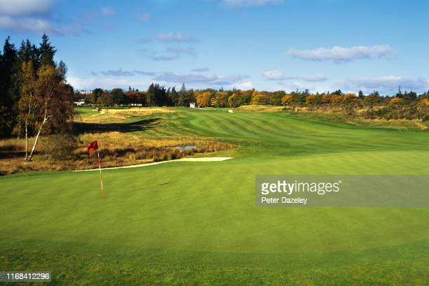 View of the 426 yards par 4, first hole on the PGA Centenary Course at Gleneagles Golf Course on July 24, 2019 in Auchterarder,Scotland. The 2019...