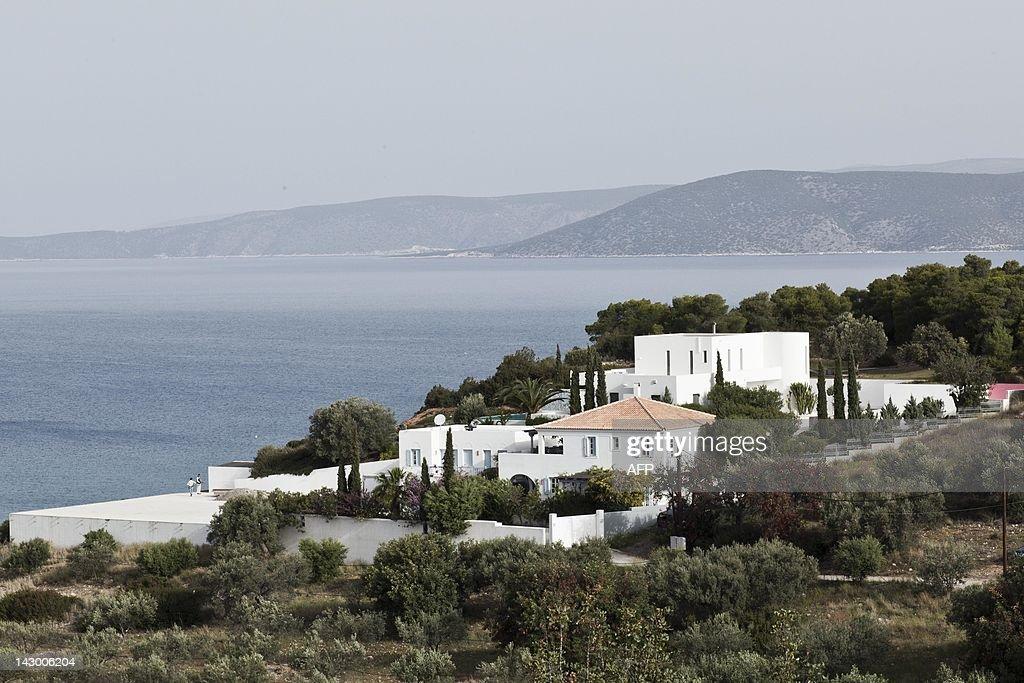 View of the 4.5 million euros villa that : News Photo