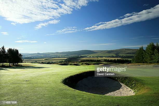 A view of the 481 yards par 4 13th hole 'Wimplin'Wyne' on The PGA Centenary Course at The Gleneagles Hotel Golf Resort which will be the host venue...