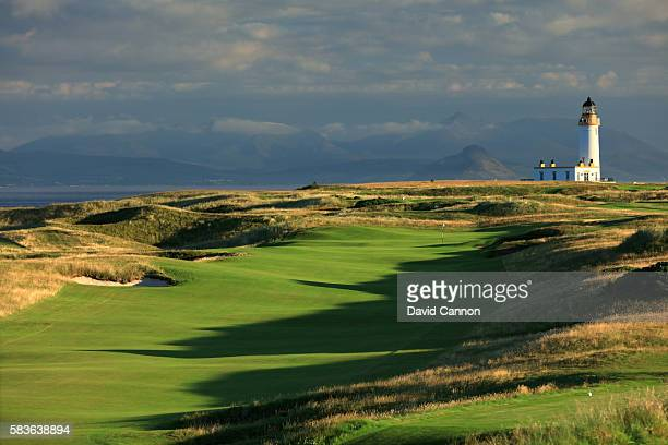 A view of the 575 yards par 5 seventh hole of the Ailsa Course at the Trump Turnberry Resort on July 19 2016 in Turnberry Scotland