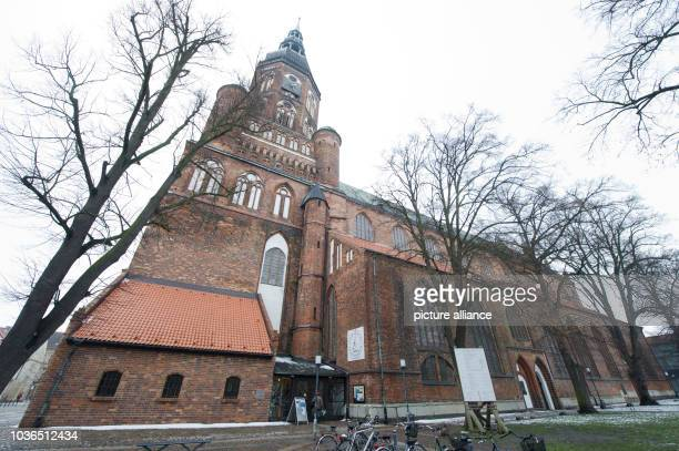 A view of the 700 year old 'Dom St Nikolai' in Greifswald Germany 29 January 2013 25 years ago the cathedral has been redeveloped in the former DDR...