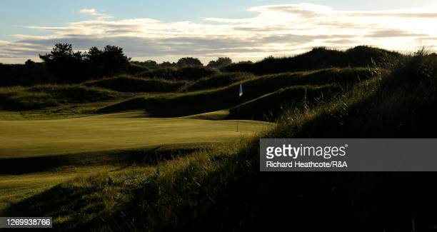 View of the 7th green during the final of The Amateur Championship at Royal Birkdale on August 30, 2020 in Southport, England.