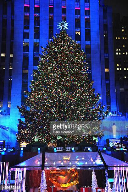 A view of the 83rd Rockefeller Center tree lighting on December 2 2015 in New York City