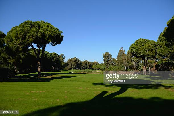 A view of the 8th tee during the fourth round of the PGA PlayOffs at Antalya Golf Club PGA Sultan Course on November 30 2015 in Antalya Turkey