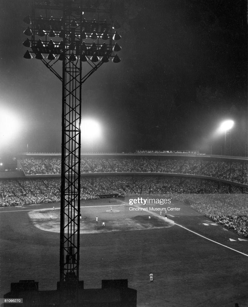 Night Game At Crosley Field : News Photo