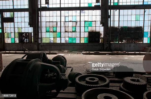 A view of the abandoned Santa Fe Railroad Repair Facility at 2nd and Santa Fe SW on February 26 2008 in Albuquerque New Mexico This site and the...