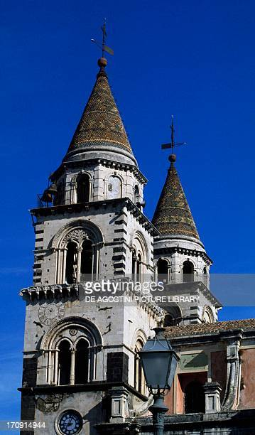 View of the Acireale Cathedral Acireale Sicily Italy