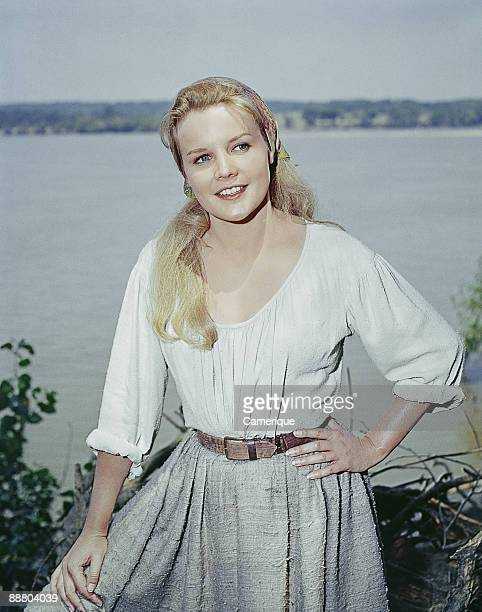 View of the actress Carroll Baker starring in the movie 'How The West Was Won' 1962