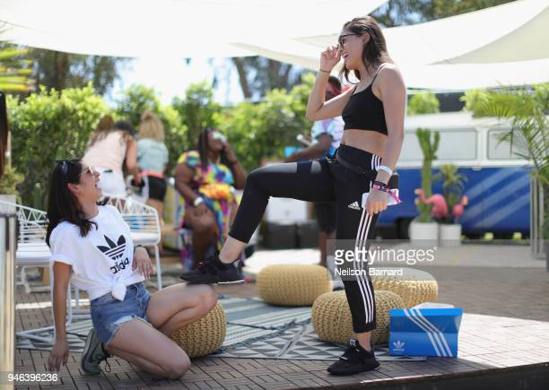 A view of the adidas activation at Coachella on April 14 2018 in Indio California