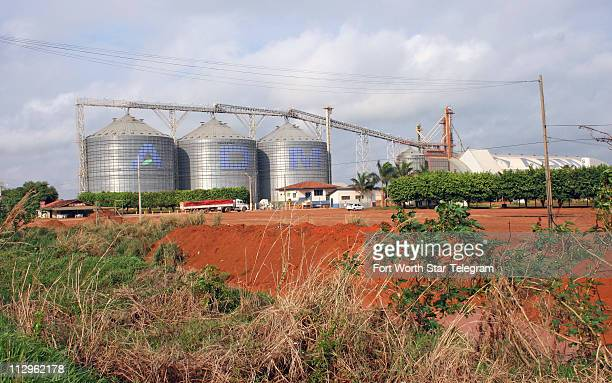 View of the ADM soybean facility in Mato Gross state, central-west Brazil. Large multinationals like ADM, Bunge, Cargill and Dreyfus handle more than...
